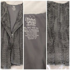 Girls Soft Faux Fur Sleeveless Vest